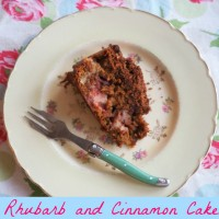 Rhubarb and Cinnamon Cake
