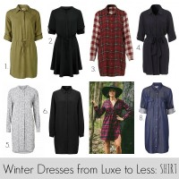 Shirt dresses from luxe to less slider