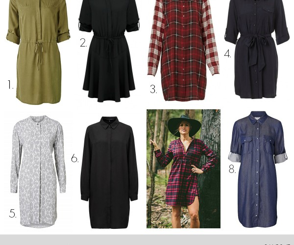 Winter Dresses from Luxe to Less: The Shirt Dress