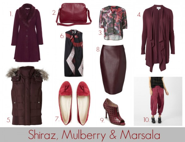 SnS Colour of the Week - Shiraz. Mulberry and Marsala