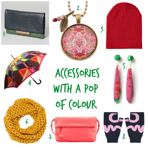 Accessories with a Pop of Colour