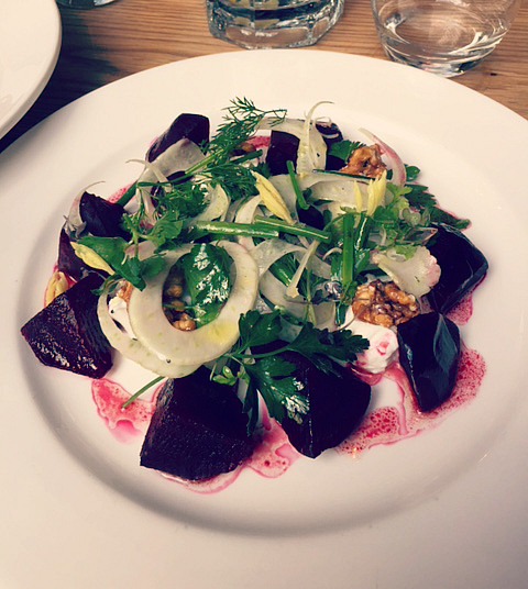Beetroot Salad at The Epicurean