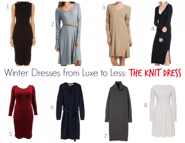 Winter Dresses from Luxe to Less - The Knit Dress