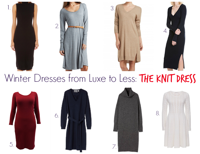 1d4a4e7508f78 Winter Dresses from Luxe to Less: The Knit Dress - Style & Shenanigans