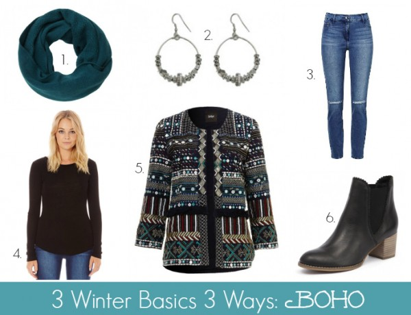 3 Winter Basics 3 Ways - Boho