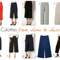 Culottes from Luxe to Less