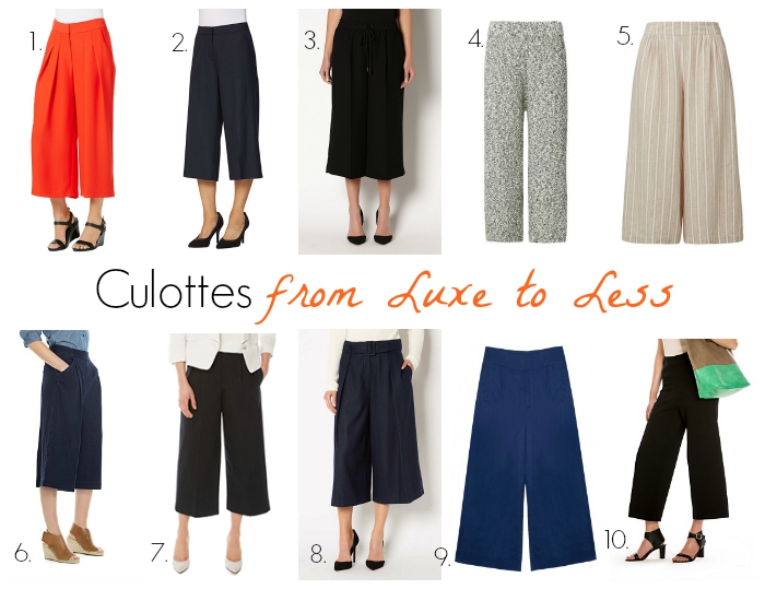 How to Wear Culottes & Wide Leg Pants