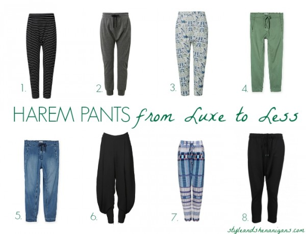 Harem Pants from Luxe to Less