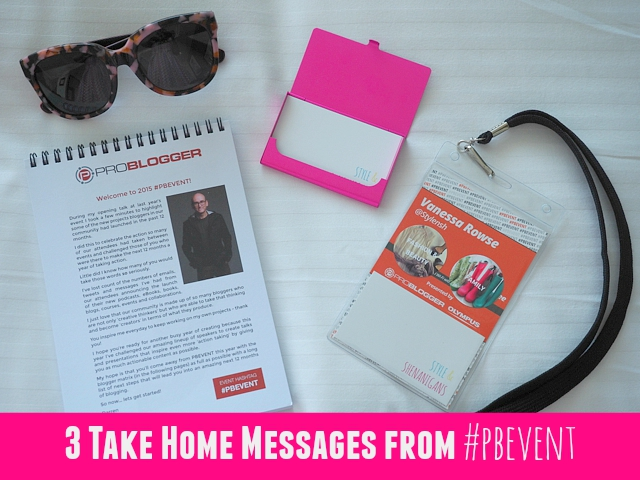 Three Take Home Messages from #PBEVENT
