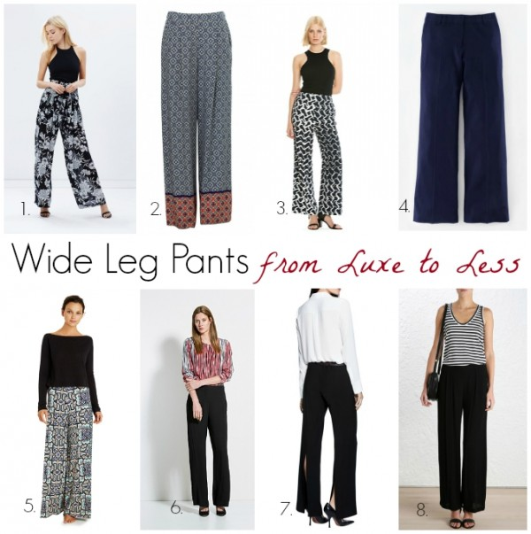 Wide Leg Pants from Luxe to Less
