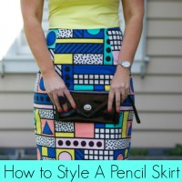 How to Style a Printed Pencil Skirt