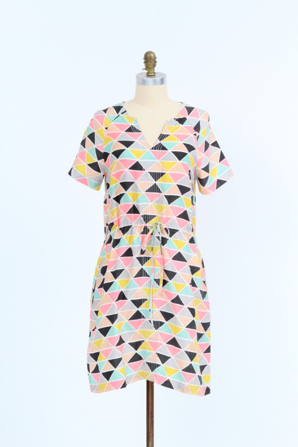 Lily-Dress-triangular-print