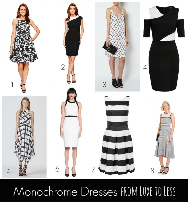 Monochrome Dresses from Luxe to Less Slider