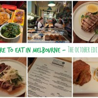 Where to Eat in Melbourne – October 2015