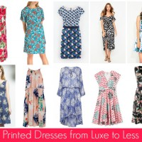 Printed Dresses from Luxe to Less Dressy