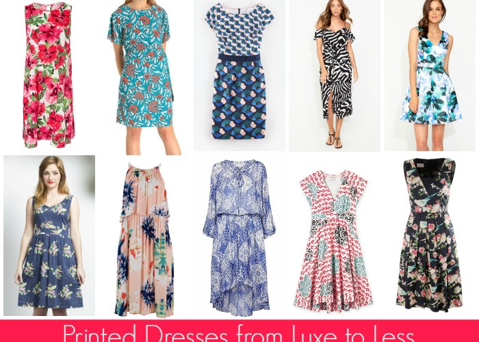 Summer Dresses from Luxe to Less: Printed Dresses