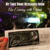 My Take Home Messages From A Night With Oprah