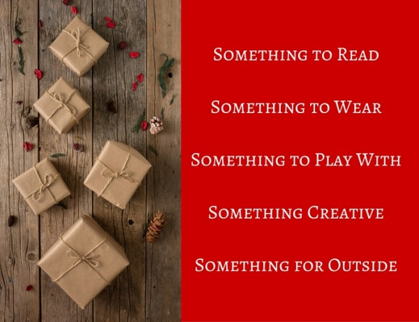 Something to ReadSomething to Play WithSomething CreativeSomething for OutsideSomething to Share