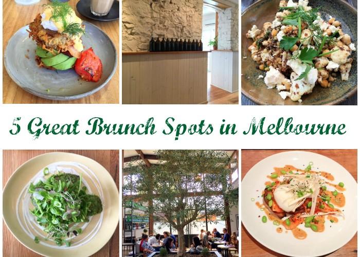 Five (More) Great Brunch Spots in Melbourne