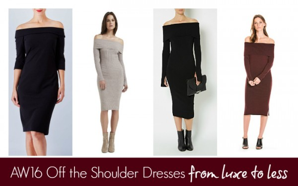 AW16 Off the Shoulder Dresses From Luxe to Less