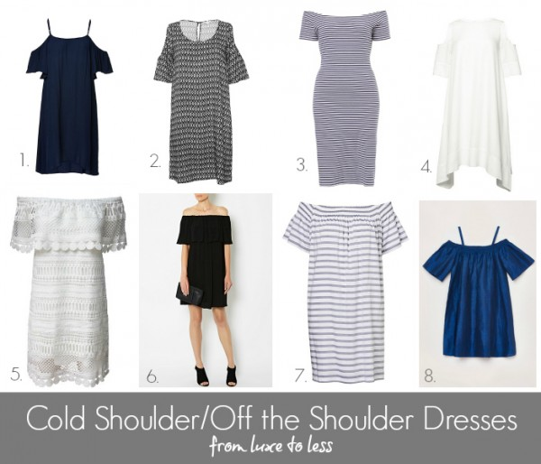 Cold ShoulderOff the Shoulder Dresses from Luxe to Less