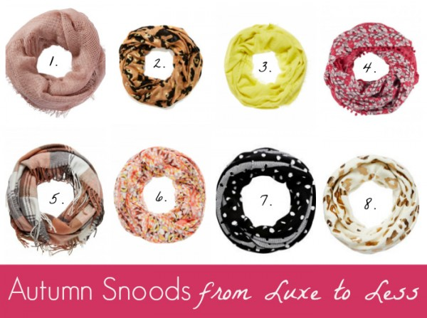 Autumn Snoods from Luxe to Less