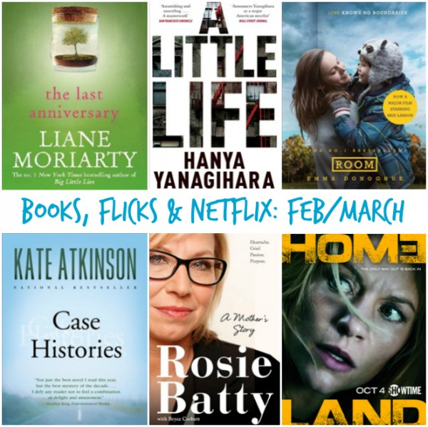 Bookx, Flicks & Netflix - FebMarch 2016