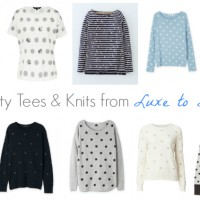 Spotty Tops and Knits from Luxe to Less