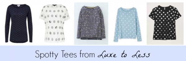 Spotty Tees from Luxe to Less