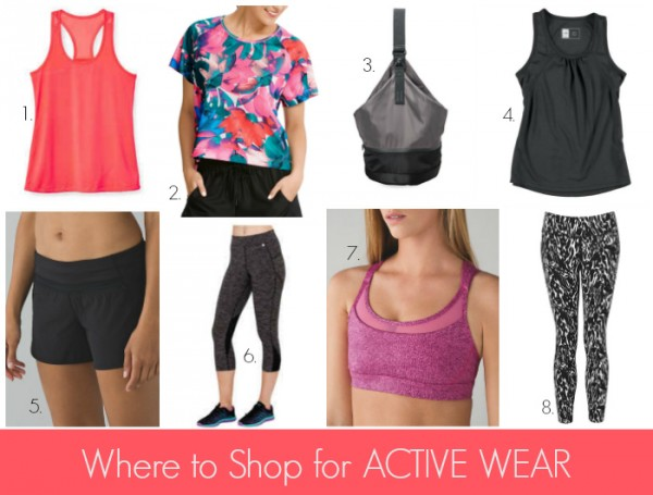 Where to Shop for Active Wear