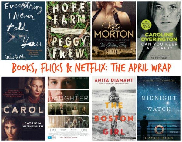 Books, Flicks and Netflix - April 2016