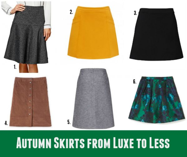 Autumn Skirts from Luxe to Less - A-Line & Full