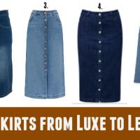 Autumn Skirts from Luxe to Less