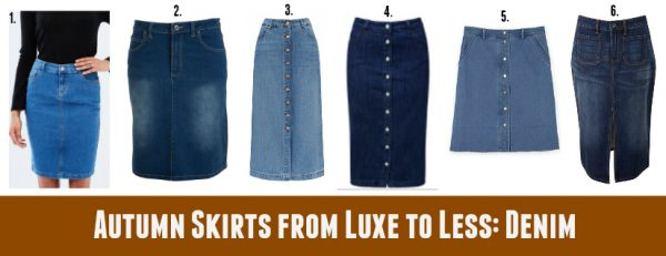 Autumn Skirts from Luxe to Less - Denim