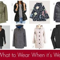 What to Wear When it's Wet