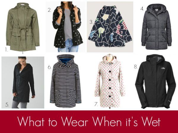 What to Wear When it's Wet - Raincoats