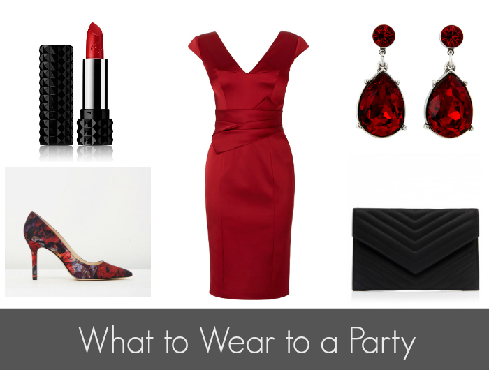 What to Wear to a Party - Red