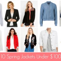 Ten Spring Jackets Under $100