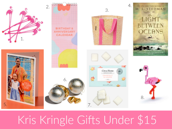 kris kringle gift ideas under 15 for christmas