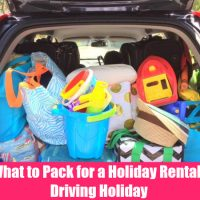 What to Pack for a Holiday Rental/Driving Holiday