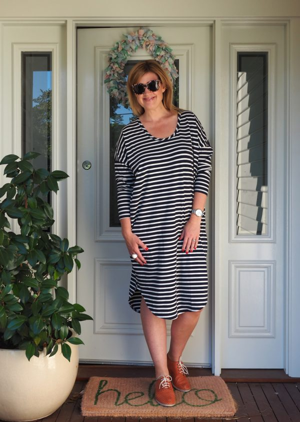 7ee26dc8ab The next thing I chose was this Long Sleeve Classic Scoop Neck in Stripe