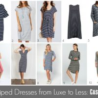 Striped Dresses from Luxe to Less