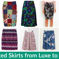 Printed Skirts from Luxe to Less