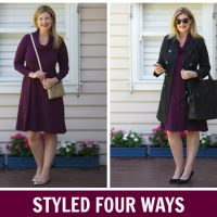 Styled Four Ways: Bird Keepers' Cowl Neck Jersey Dress