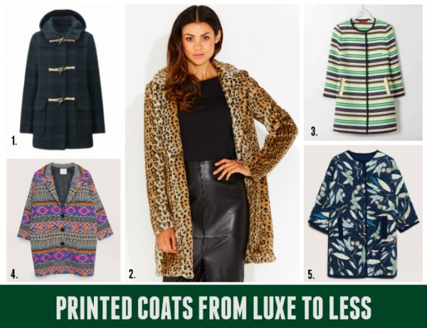 Luxe to Less: Printed Coats & Military Details - Style & Shenanigans