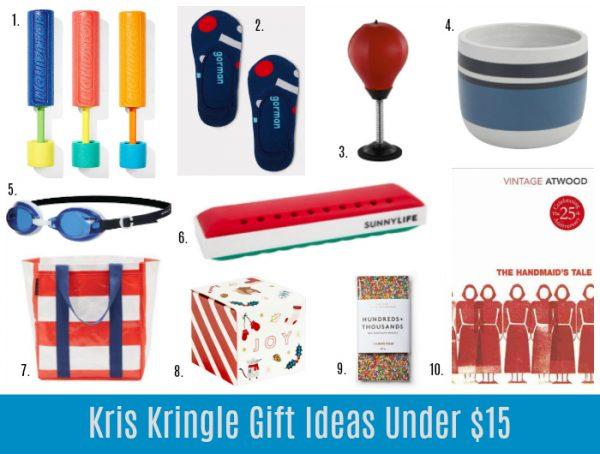 Kris Kringle Gifts Under 15