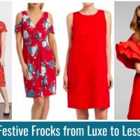 Festive Red Frocks from Luxe to Less