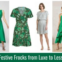 Festive Green Frocks from Luxe to Less